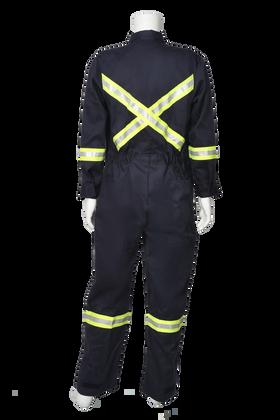 SAFTECH 7 OZ WESTEX INDURA FLAME RESISTANT NAVY COVERALLS JSZP08