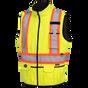 Hi-Viz Reversible Insulated Safety Vest   Pioneer