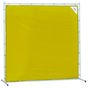 Sellstrom Welding Curtain with Frame - 6'x6' - Yellow - S97336