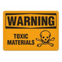 OSHA Safety Sign | Warning Toxic Mat'l  | Incom