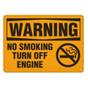 OSHA Safety Sign | Warning Turn Engine  | Incom