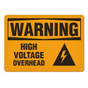 OSHA Safety Sign | Warning Voltage Over | Incom