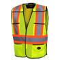 Hi-Vis Tear-Away Traffic Safety Vest - CSA, Class 2 - Pioneer - 6927