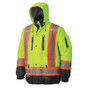 Hi-Vis Premium Waterproof Safety Jacket CSA, Class 2 Pioneer 5201 YELLOW