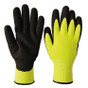 Hi-Vis Double Nitrile Seamless Winter Safety Glove - Insulated - Pioneer YELLOW 5355