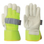 Hi-Vis Cowgrain Fitter's Safety Glove Startech Pioneer YELLOW 536HVYG