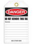 Bilingual Danger – Flammable Materials Tag  | Pack of 25 | Incom