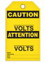 Bilingual Caution – ______ Volts  | Pack of 25 | Incom