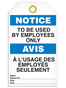 Bilingual Notice – To Be Used By Employees Only  | PKG/25 | Incom