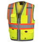 Hi-Vis Mesh Back Zip Surveyor Safety Vest CSA, Class 2 Pioneer 6673