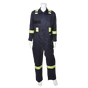 "Striped Coveralls - 9 oz. Westex® by Milliken® Flame Resistant Fabric - 88% Cotton / 12% Nylon - 3M ScotchliteTM 2"" Flame Resistant Safety Stripes 
