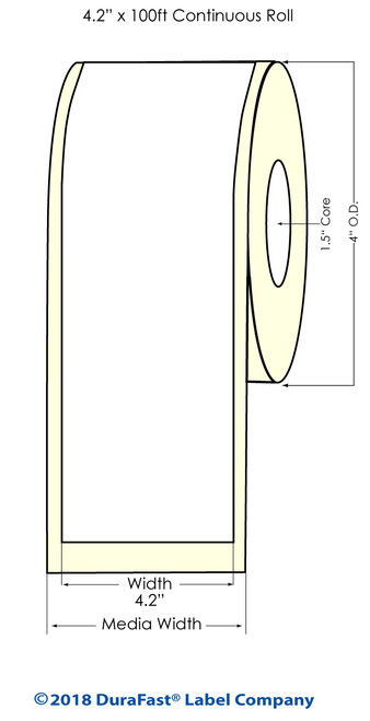 "TM-C3500 4.2"" x 100 ft Matte Paper Inkjet Labels Roll"
