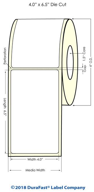 "TM-C3500 4"" x 6.5"" (1A) Matte Paper Inkjet Labels 180/Roll"