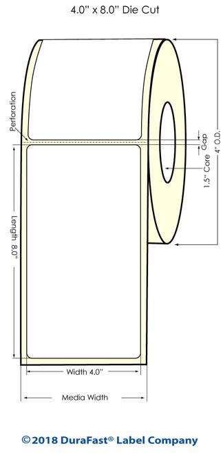 "TM-C3500 4"" x 8"" (1A) Matte Paper Inkjet Labels 140/Roll"