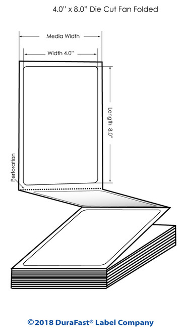 "TM-C3500 4""x 8"" (1A) Matte Paper Inkjet Labels 500/Carton"