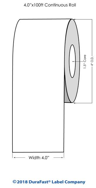 """TM-C3500 4"""" x 100 ft High Gloss Paper Inkjet Labels Roll"""