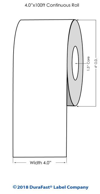 """TM-C3500 4"""" x 100 ft High Gloss Tag Roll"""