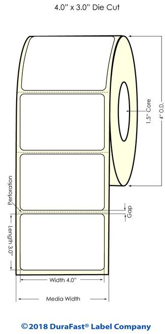 """TM-C3500 4"""" x 3"""" (1A) Matte BOPP Inkjet Labels 380/Roll"""