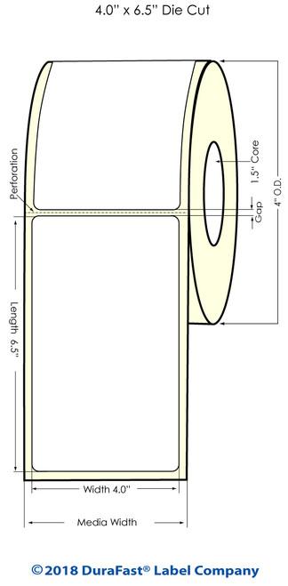 """TM-C3500 4"""" x 6.5"""" (1A) Matte BOPP Inkjet Labels 180/Roll"""