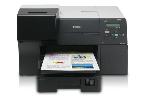 Load your label sheets from the front of the printer.
