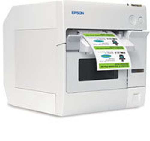 Quickly customize and print durable color labels in-house with the Epson TM-C3400 Inkjet Label Printer (C31CA26011)