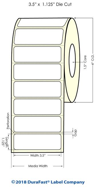 "Epson ColorWorks C3500 3.5"" x 1.125"" Matte Polypropylene Labels   Epson Labels"