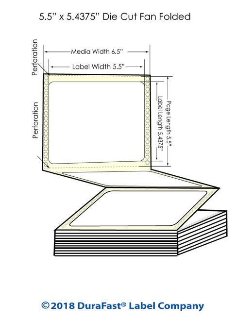 "GP-C831 5.5"" x 5.4375"" Matte Paper Inkjet Labels 1700/Carton"