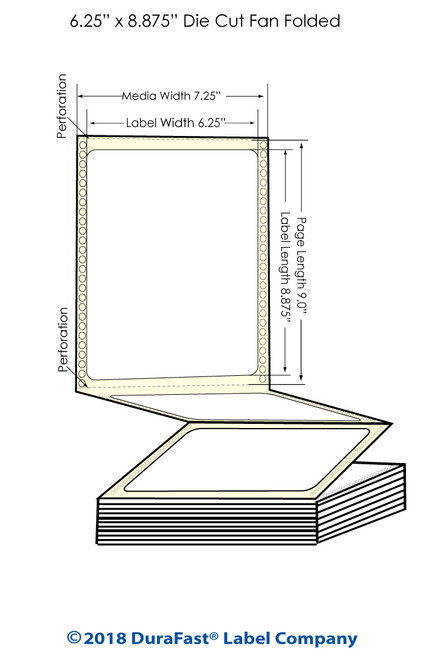 "GP-C831 6.25"" x 8.875"" Matte Paper Inkjet Labels 850/Carton"