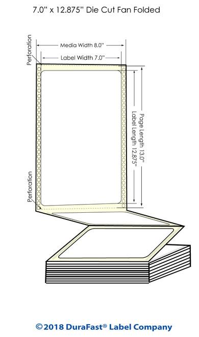 "GP-C831 7"" x 12.875"" Matte Paper Inkjet Labels 850/Carton"