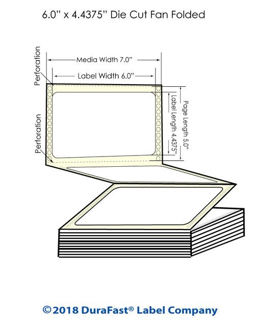 "GP-C831 6"" x 4.4375"" Chemical Inkjet Labels 1200/Carton"