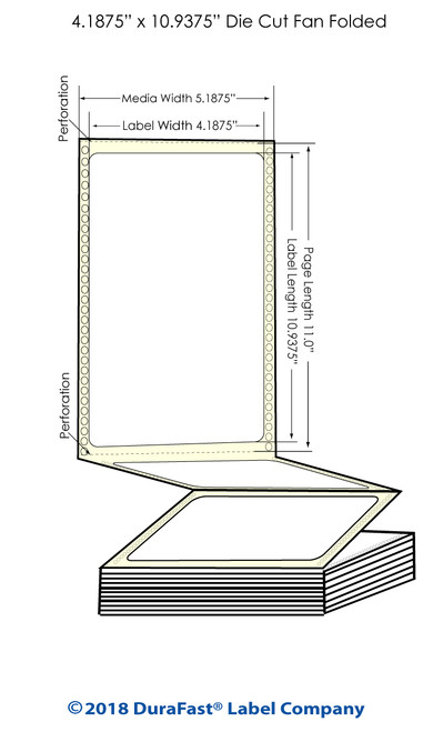 "GP-C831 4.1875"" x 10.9375"" Chemical Inkjet Labels 600/Carton"