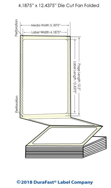 "GP-C831 4.1875"" x 12.4375"" Chemical Inkjet Labels 600/Carton"