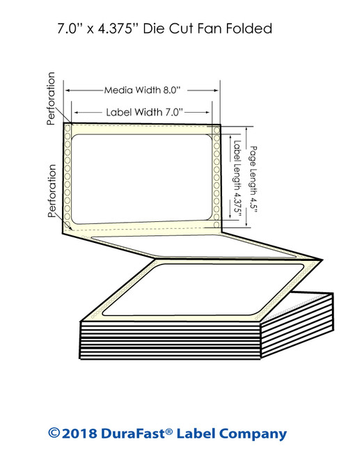 "GP-C831 7"" x 4.375"" Chemical Inkjet Labels 1200/Carton"