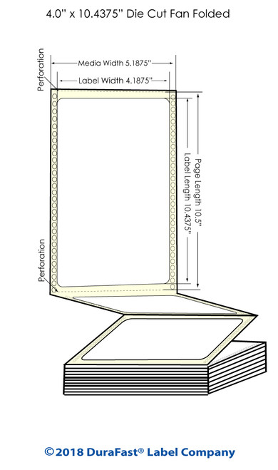 "GP-C831 4"" x 10.4375"" Chemical Inkjet Labels 600/Carton"