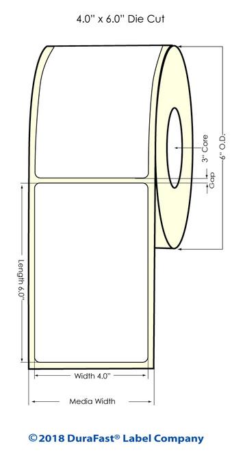 "LX900 4"" x 6"" NP Matte Paper Inkjet Labels 400/Roll"