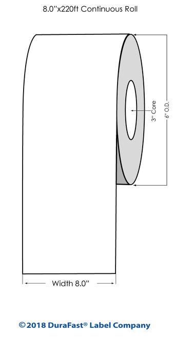 "LX900 5"" x 220 ft High Gloss Tag Roll"