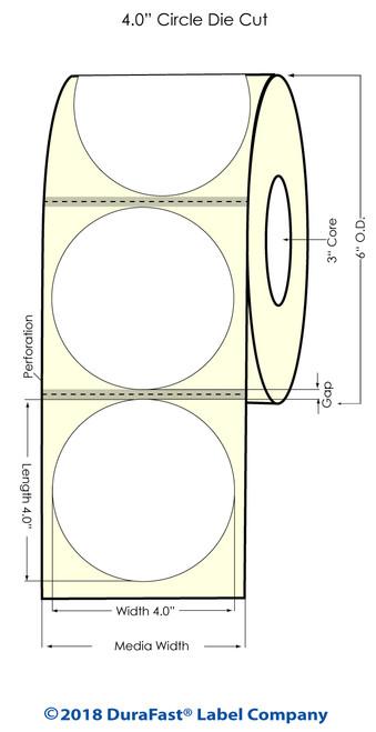 "TM-C7500 4"" Circle (Matrix ON) High Gloss Inkjet Labels 600/Roll"