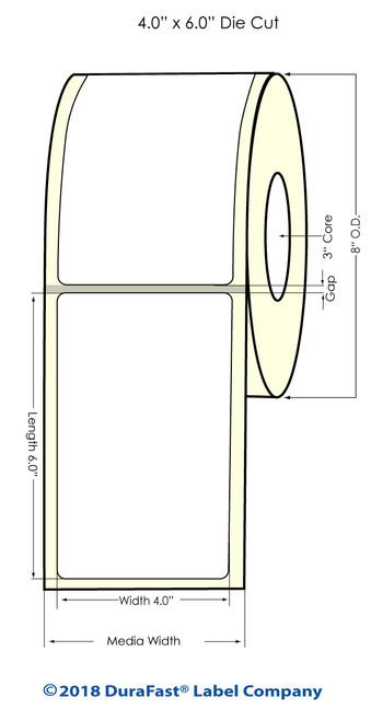 "TM-C7500 4"" x 6"" NP Matte Paper Inkjet Labels 900/Roll"