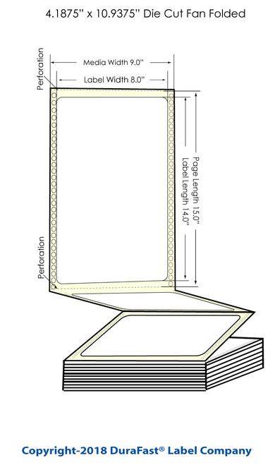 "300x - 8"" x 14"" Chemical Inkjet Labels 600/Carton (564001)"