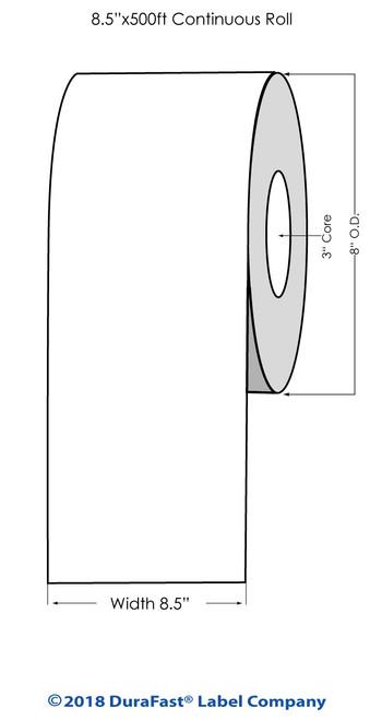 "iColor 700 Semi Gloss Paper #1 8.5"" x 500Ft Roll (683001)"