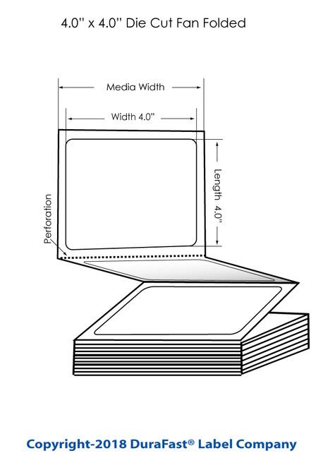 "TM-C3500 4"" x 4"" Removable Matte BOPP Inkjet Labels 2000/Carton (814037)"
