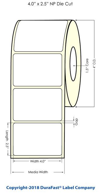"TM-C3500 4"" x 2.5"" NP Chemical Inkjet Labels 400/Roll (815048)"