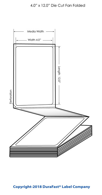 "TM-C3500 4"" x 12"" High Gloss Tags 500/Carton (819013)"