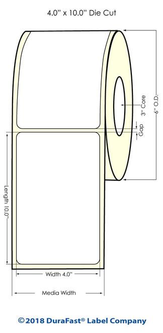 "TM-C7500G 4"" x 10"" NP High Gloss Paper Inkjet Labels 250/Roll (931033)"