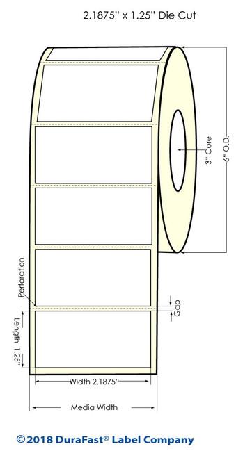"LX900 2.1875"" x 1.25"" Matte Paper Inkjet Labels 1800/Roll (932019)"