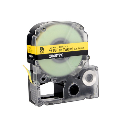 """Epson 204BYPX 1/6"""" Yellow Glossy Polyester Label PX Tape"""