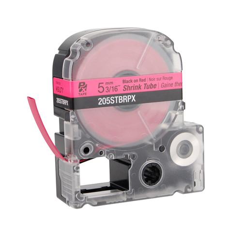 """Epson 205STBRPX 3/16"""" Red Matte Heat Shrink Tube PX Tape"""