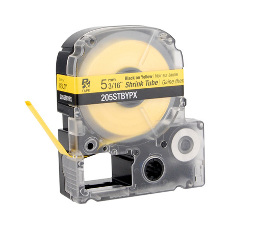 """Epson 205STBYPX 3/16"""" Yellow Matte Heat Shrink Tube PX Tape"""