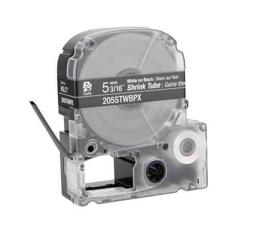 "Epson 205STWBPX 3/16"" Black Matte Heat Shrink Tube PX Tape"