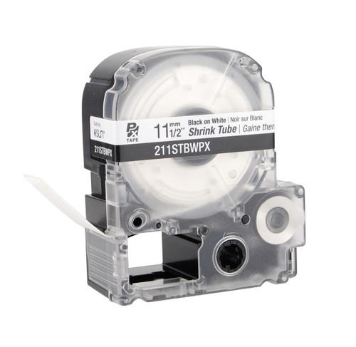 "Epson 211STWBPX 1/2"" Black Matte Heat Shrink Tube PX Tape"